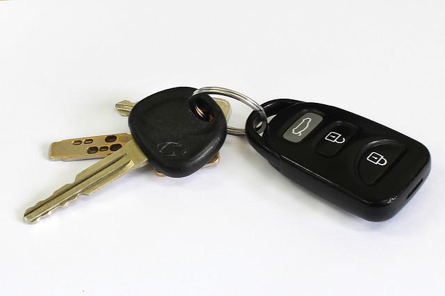clés de voiture de location