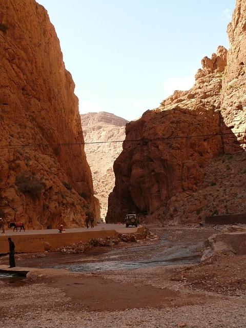 paysage marocain - gorges du todra